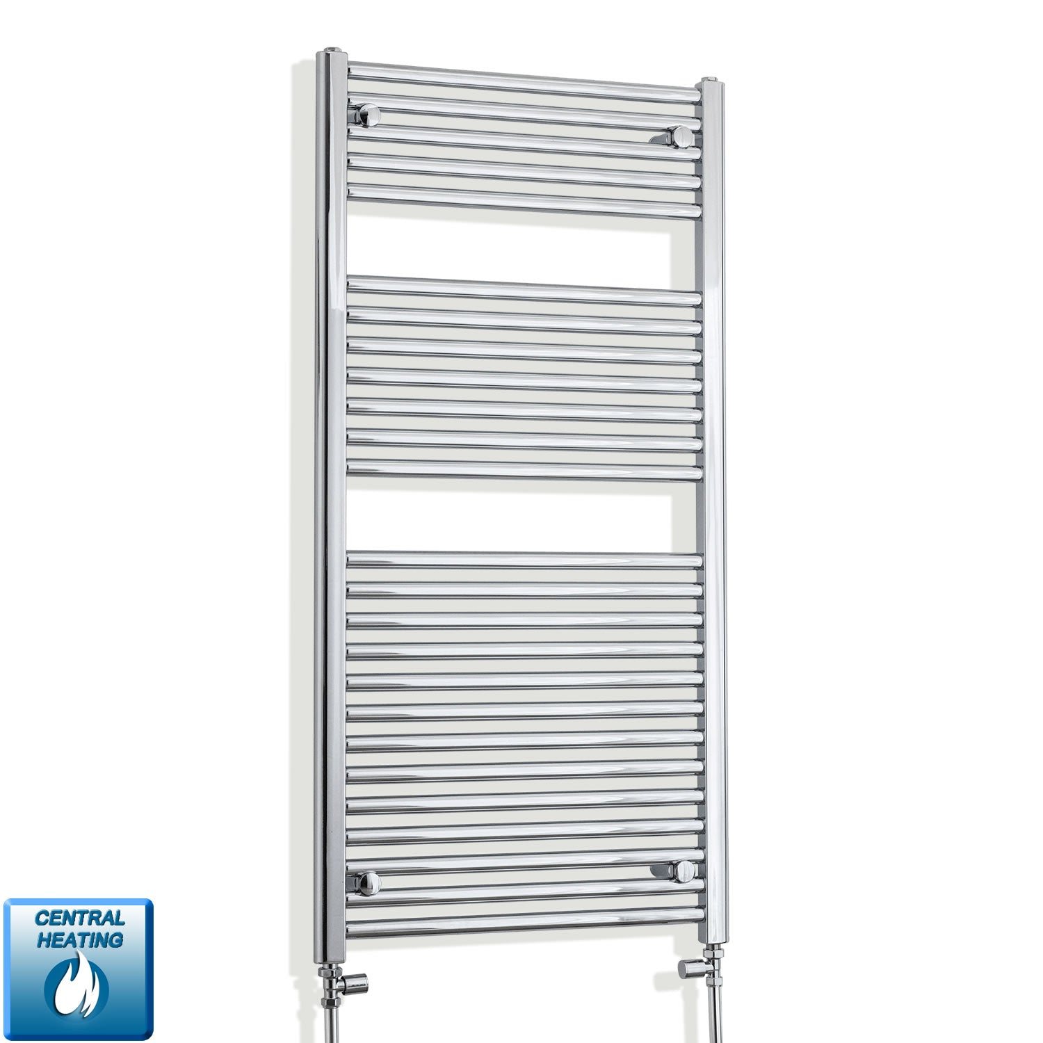 500mm Wide 1211mm High 25mm Straight Chrome Heated Towel Rail Radiator HTR,With Straight Valve