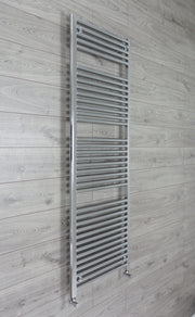 500mm Wide 1744mm High 25mm Tubes Straight Chrome Heated Towel Rail Radiator HTR,With Angled Valve