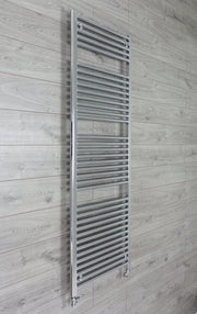 500mm Wide 1744mm High 25mm Tubes Straight Chrome Heated Towel Rail Radiator HTR,With Straight Valve