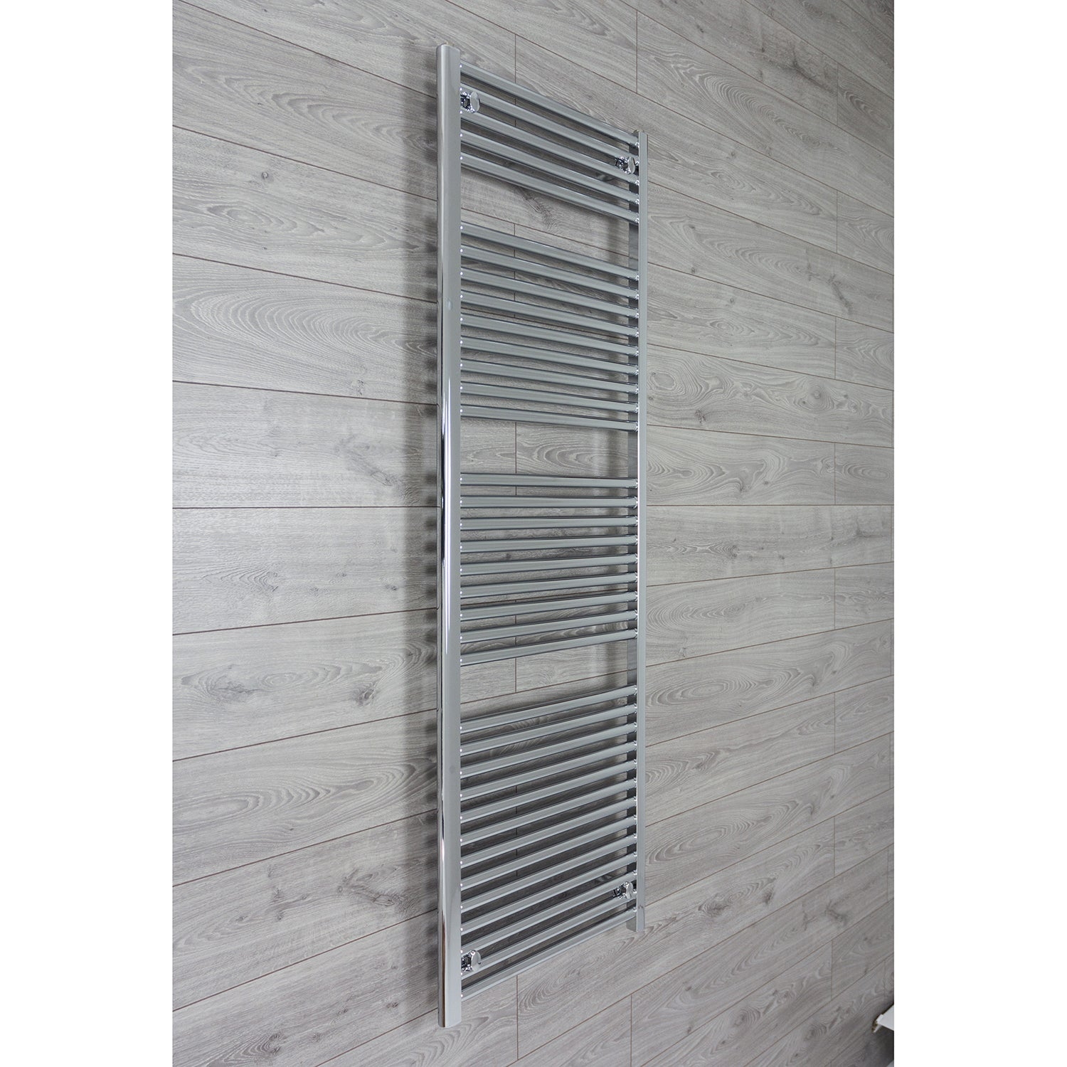 600mm Wide 1744mm High 25mm Tubes Curved Chrome Heated Towel Rail Radiator HTR,Towel Rail Only