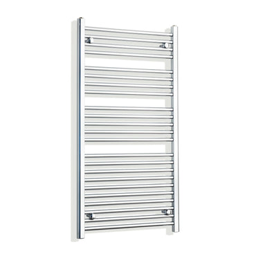 650mm Wide 1200mm High Flat Chrome Heated Towel Rail Radiator HTR,Towel Rail Only