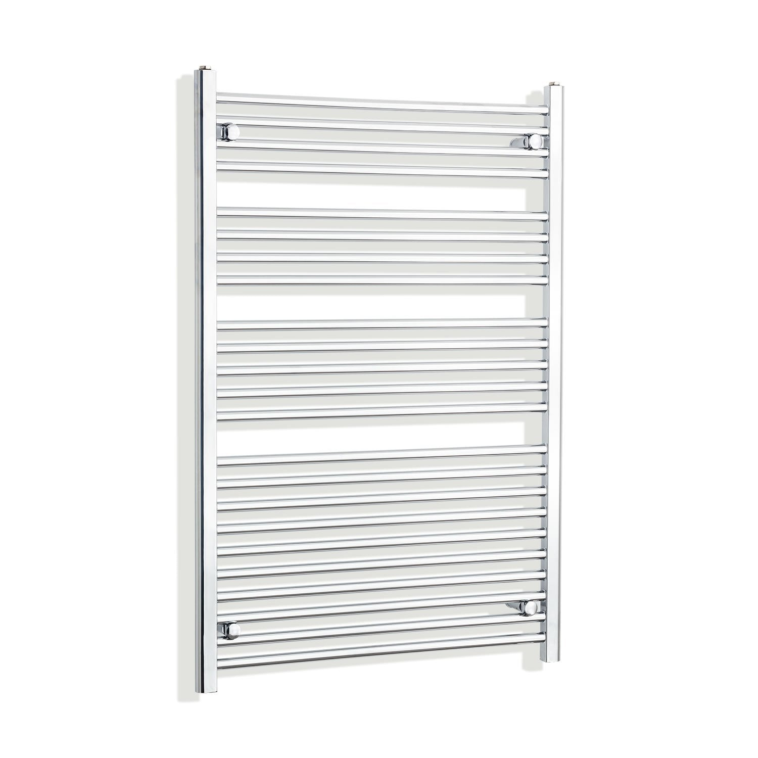 800mm Wide 1200mm High Flat Chrome Heated Towel Rail Radiator HTR,With Straight Valve
