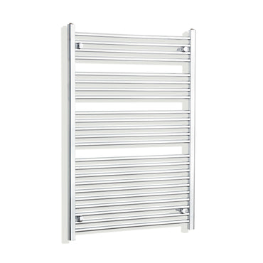 850mm Wide 1200mm High Flat Chrome Heated Towel Rail Radiator HTR,Towel Rail Only