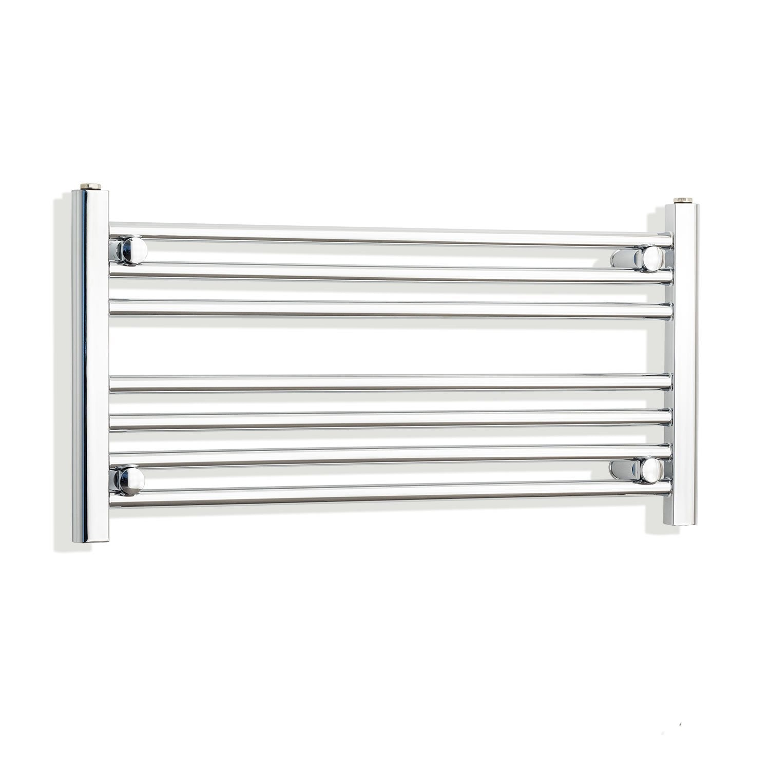 750mm Wide 400mm High Flat Chrome Heated Towel Rail Radiator HTR,Towel Rail Only