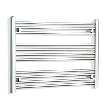 750mm Wide 600mm High Curved Chrome Heated Towel Rail Radiator HTR,Towel Rail Only