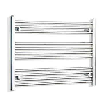 750mm Wide 600mm High Flat Chrome Heated Towel Rail Radiator HTR,Towel Rail Only