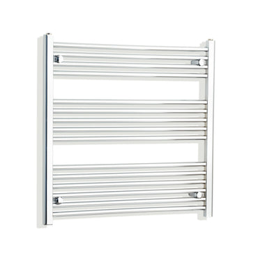 750mm Wide 800mm High Flat Chrome Heated Towel Rail Radiator HTR,Towel Rail Only