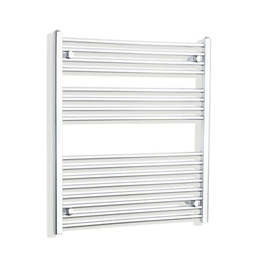 1000mm Wide 900mm High Flat Chrome Heated Towel Rail Radiator HTR,With Straight Valve