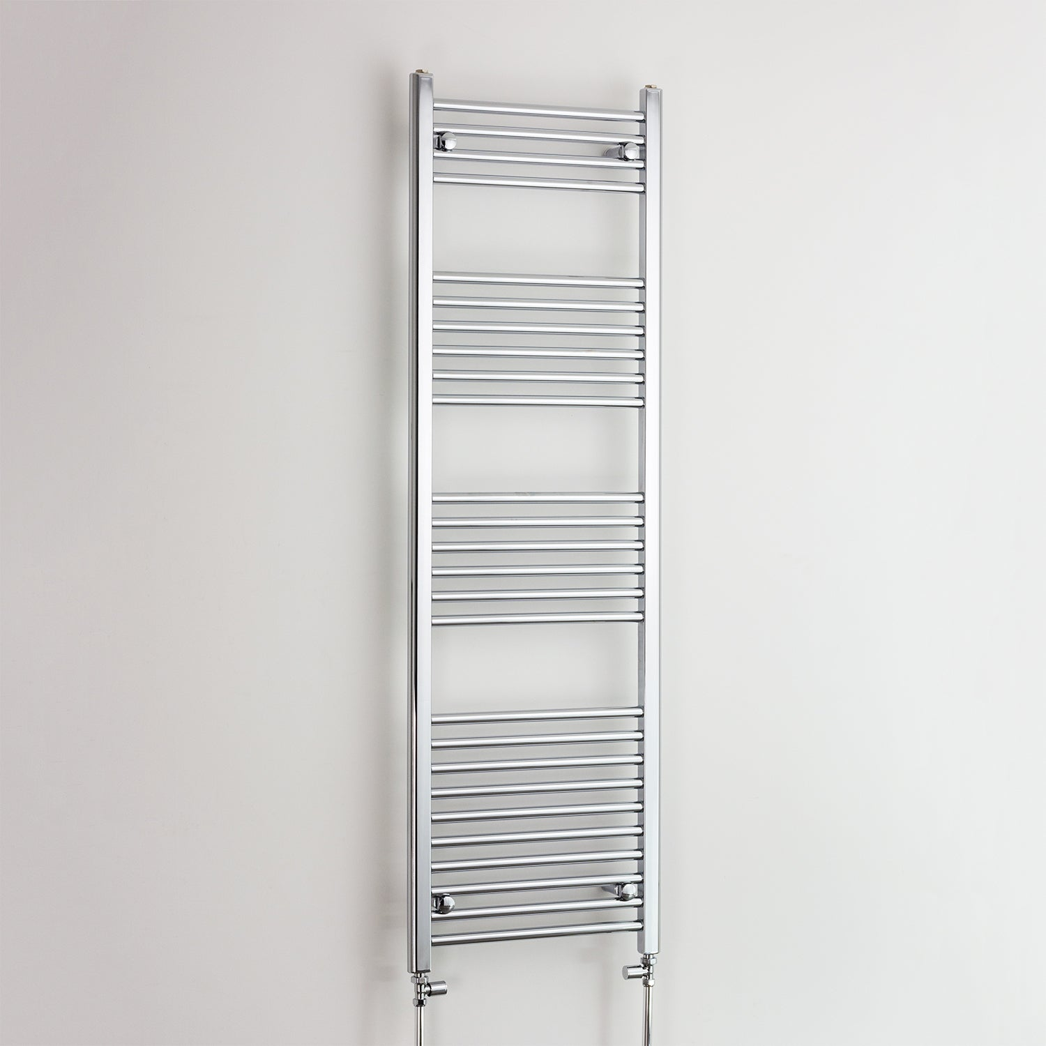600mm Wide 1600mm High Flat Chrome Heated Towel Rail Radiator HTR,With Straight Valve