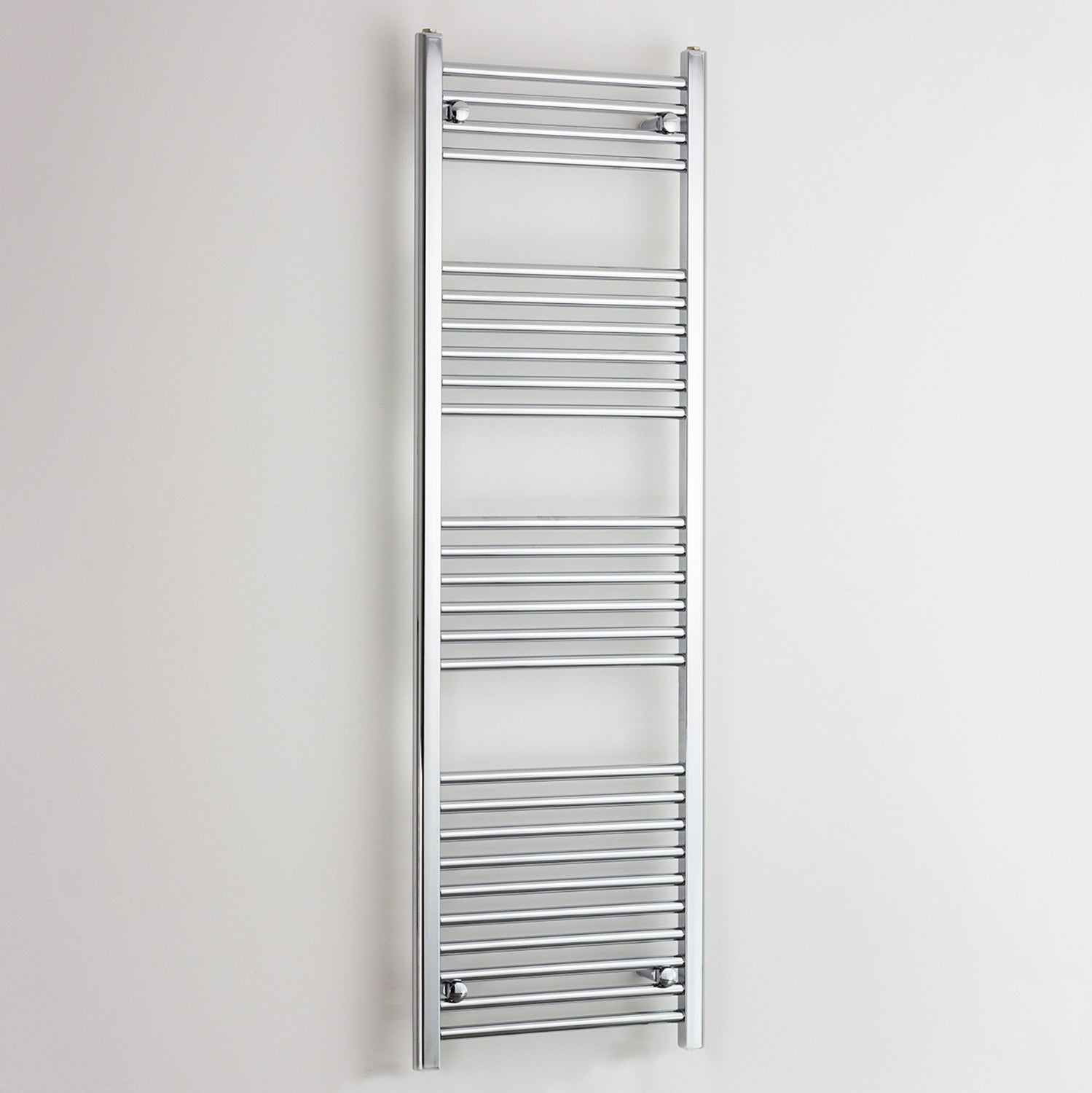 400 mm Wide 1600 mm High Heated Straight Towel Rail Radiator Chrome,Towel Rail Only