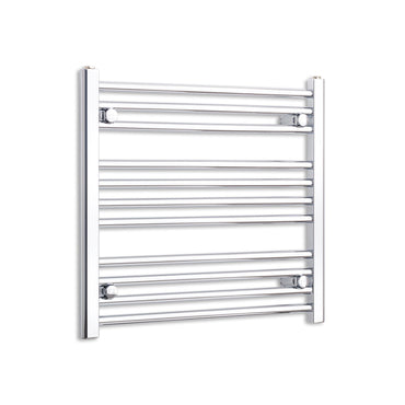 700mm Wide 600mm High Flat Chrome Heated Towel Rail Radiator HTR,Towel Rail Only