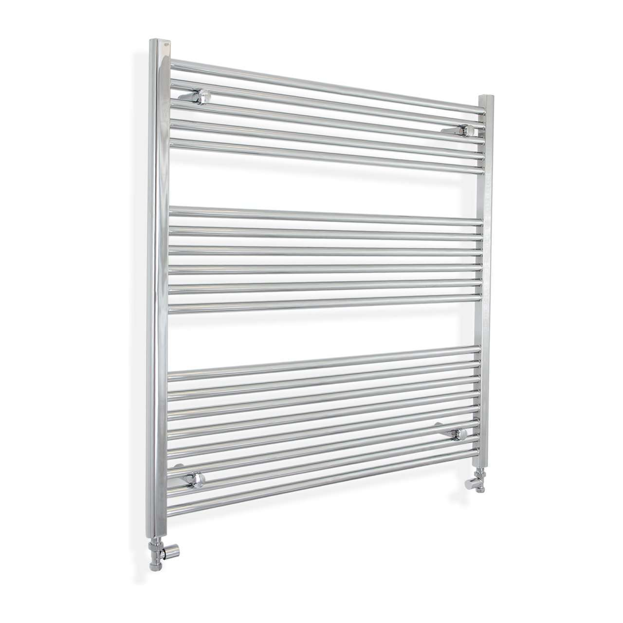 1200mm Wide 900mm High Flat Chrome Heated Towel Rail Radiator HTR,With Straight Valve