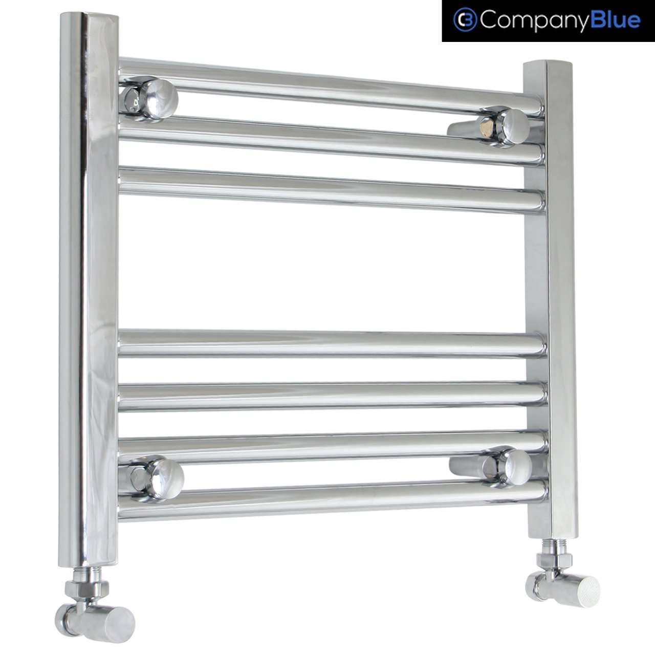 400mm Wide 400mm High Curved Chrome Heated Towel Rail Radiator HTR,Towel Rail Only