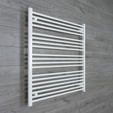 1000mm Wide 1000mm High Flat White Heated Towel Rail Radiator HTR,Towel Rail Only