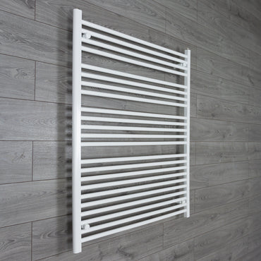950mm Wide 1200mm High Flat White Heated Towel Rail Radiator HTR,Towel Rail Only
