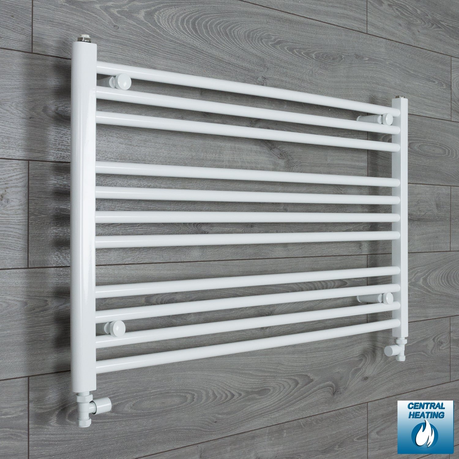1200mm Wide 600mm High Flat White Heated Towel Rail Radiator HTR,With Straight Valve