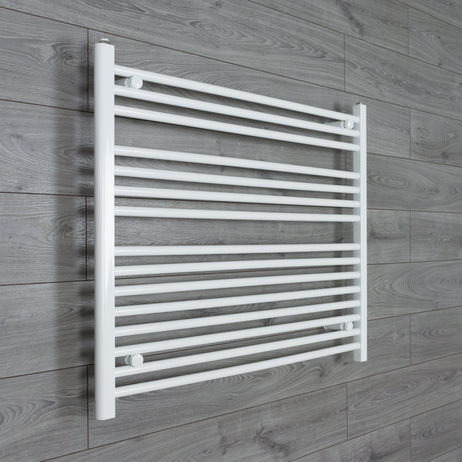 950mm Wide 800mm High Flat WHITE Pre-Filled Electric Heated Towel Rail Radiator HTR