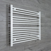 1000mm Wide 800mm High Flat White Heated Towel Rail Radiator HTR,Towel Rail Only