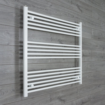 1000mm Wide 900mm High Flat White Heated Towel Rail Radiator HTR,Towel Rail Only