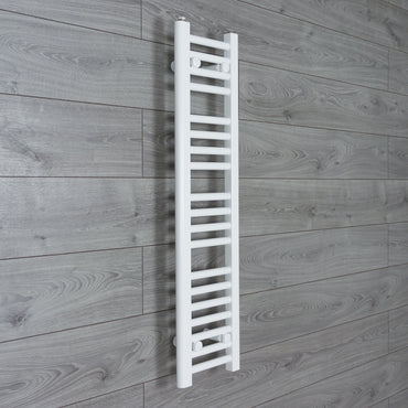 250mm Wide 1000mm High Flat WHITE Pre-Filled Electric Heated Towel Rail Radiator HTR