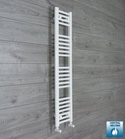 200mm Wide 1200mm High Flat White Heated Towel Rail Radiator HTR,With Angled Valve