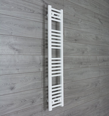 250mm Wide 1200mm High Flat White Heated Towel Rail Radiator HTR,Towel Rail Only