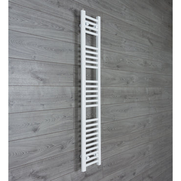 200mm Wide 1400mm High Flat WHITE Pre-Filled Electric Heated Towel Rail Radiator HTR