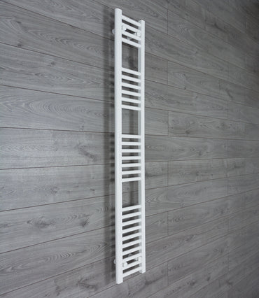 250mm Wide 1600mm High Flat White Heated Towel Rail Radiator HTR,Towel Rail Only