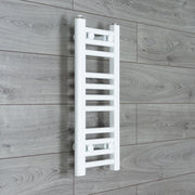 200mm Wide 600mm High Flat WHITE Pre-Filled Electric Heated Towel Rail Radiator HTR