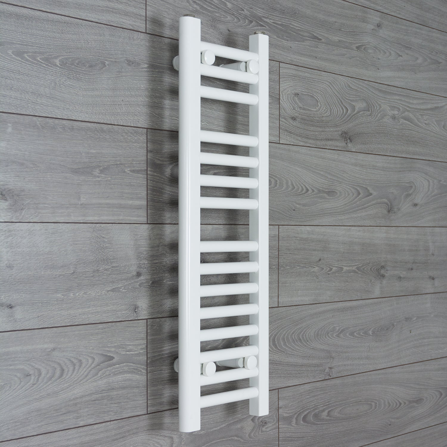 250mm Wide 800mm High Flat WHITE Pre-Filled Electric Heated Towel Rail Radiator HTR