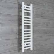 250mm Wide 800mm High Flat White Heated Towel Rail Radiator HTR,Towel Rail Only