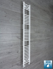 200mm Wide 1800mm High Flat White Heated Towel Rail Radiator HTR,With Straight Valve