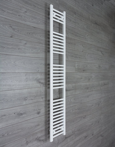 250mm Wide 1800mm High Flat White Heated Towel Rail Radiator HTR,Towel Rail Only