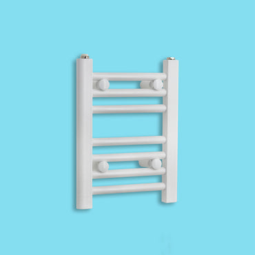 300mm Wide 400mm High Flat White Heated Towel Rail Radiator HTR,Towel Rail Only