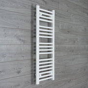 300mm Wide 1000mm High Flat WHITE Pre-Filled Electric Heated Towel Rail Radiator HTR