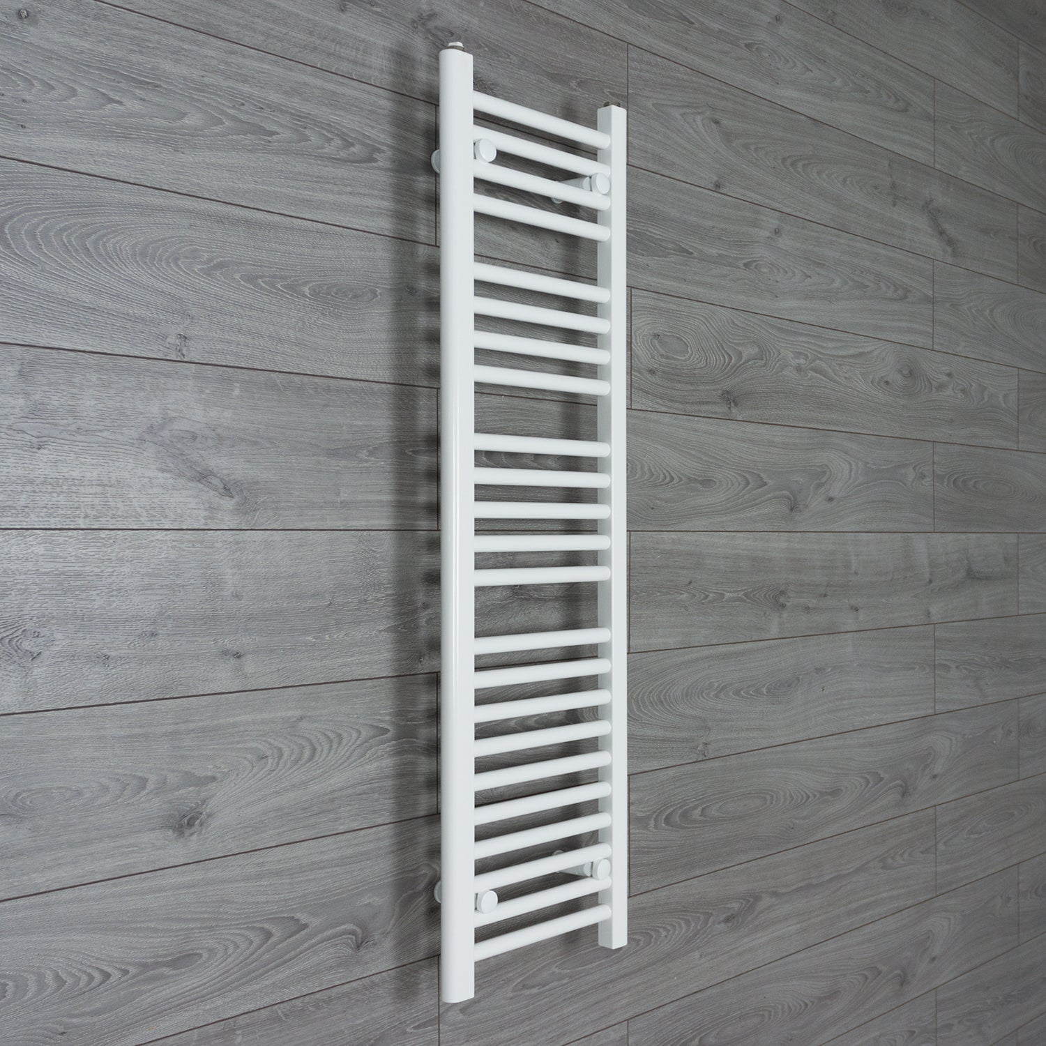 350mm Wide 1200mm High Flat White Heated Towel Rail Radiator HTR,Towel Rail Only