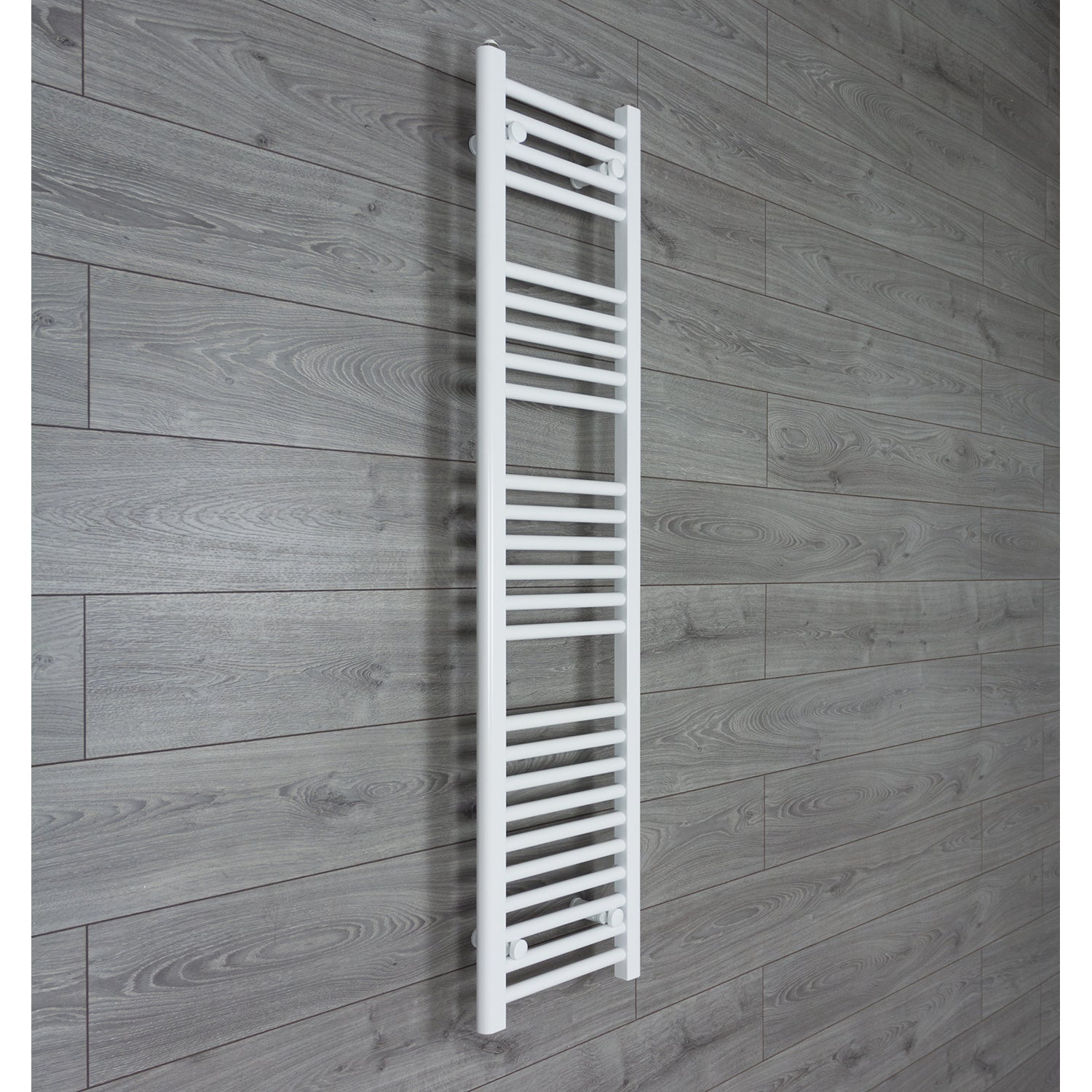 350mm Wide 1400mm High Flat WHITE Pre-Filled Electric Heated Towel Rail Radiator HTR