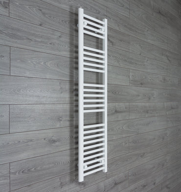 300mm Wide 1400mm High Flat White Heated Towel Rail Radiator HTR,Towel Rail Only