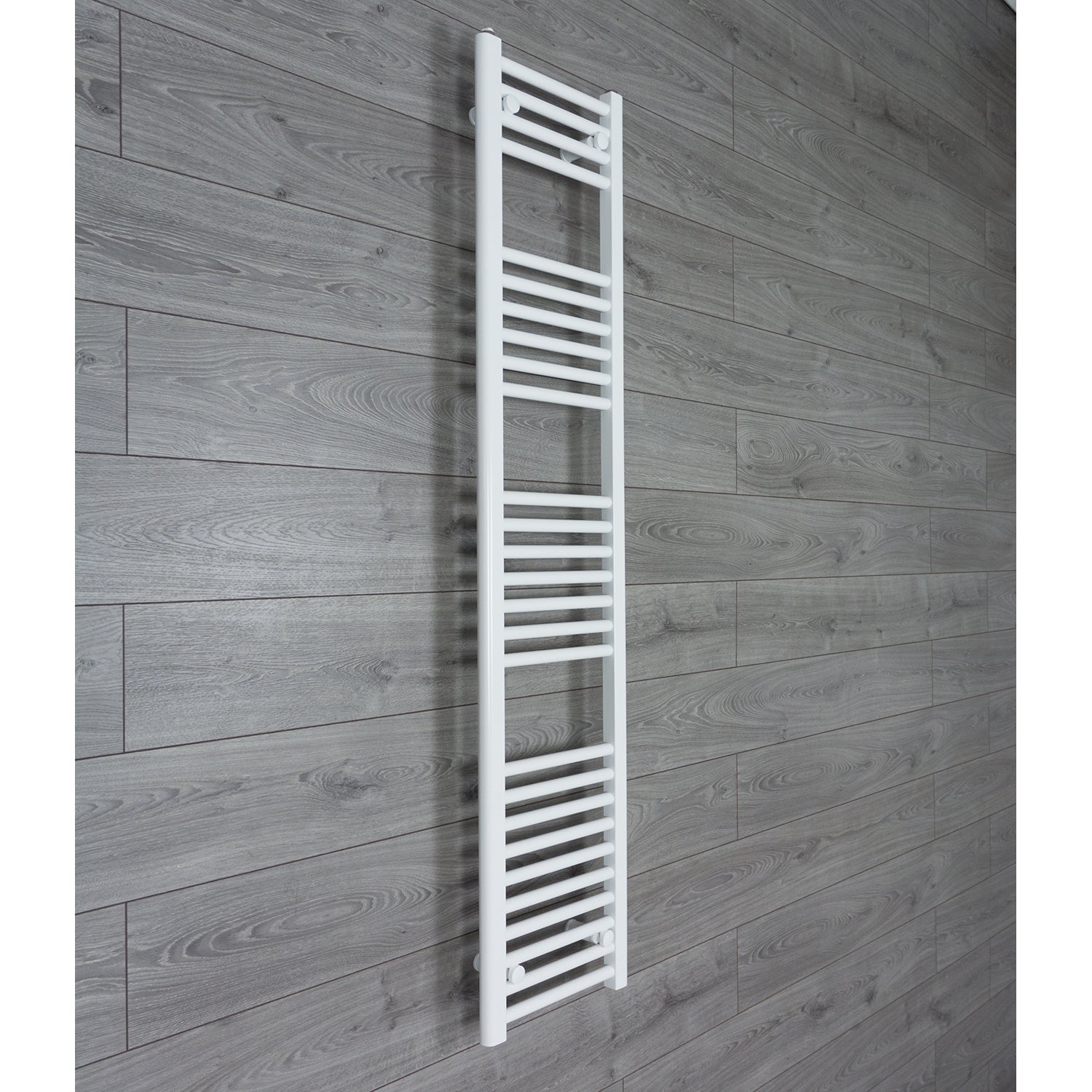 350mm Wide 1600mm High Flat WHITE Pre-Filled Electric Heated Towel Rail Radiator HTR