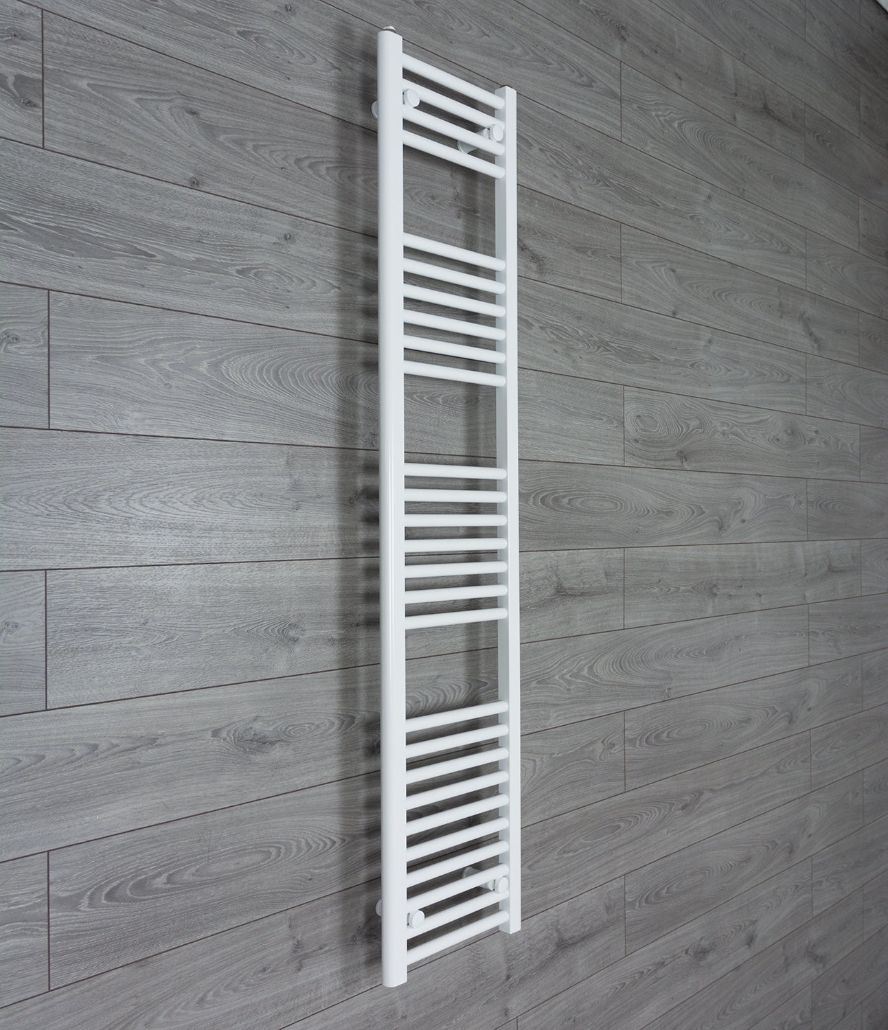 350mm Wide 1600mm High Flat White Heated Towel Rail Radiator HTR,Towel Rail Only