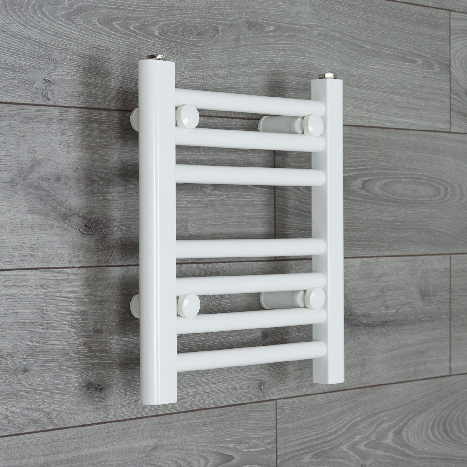 400mm Wide 400mm High Flat WHITE Pre-Filled Electric Heated Towel Rail Radiator HTR
