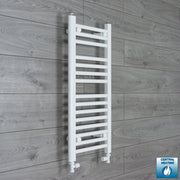 300mm Wide 800mm High Flat White Heated Towel Rail Radiator HTR,With Straight Valve