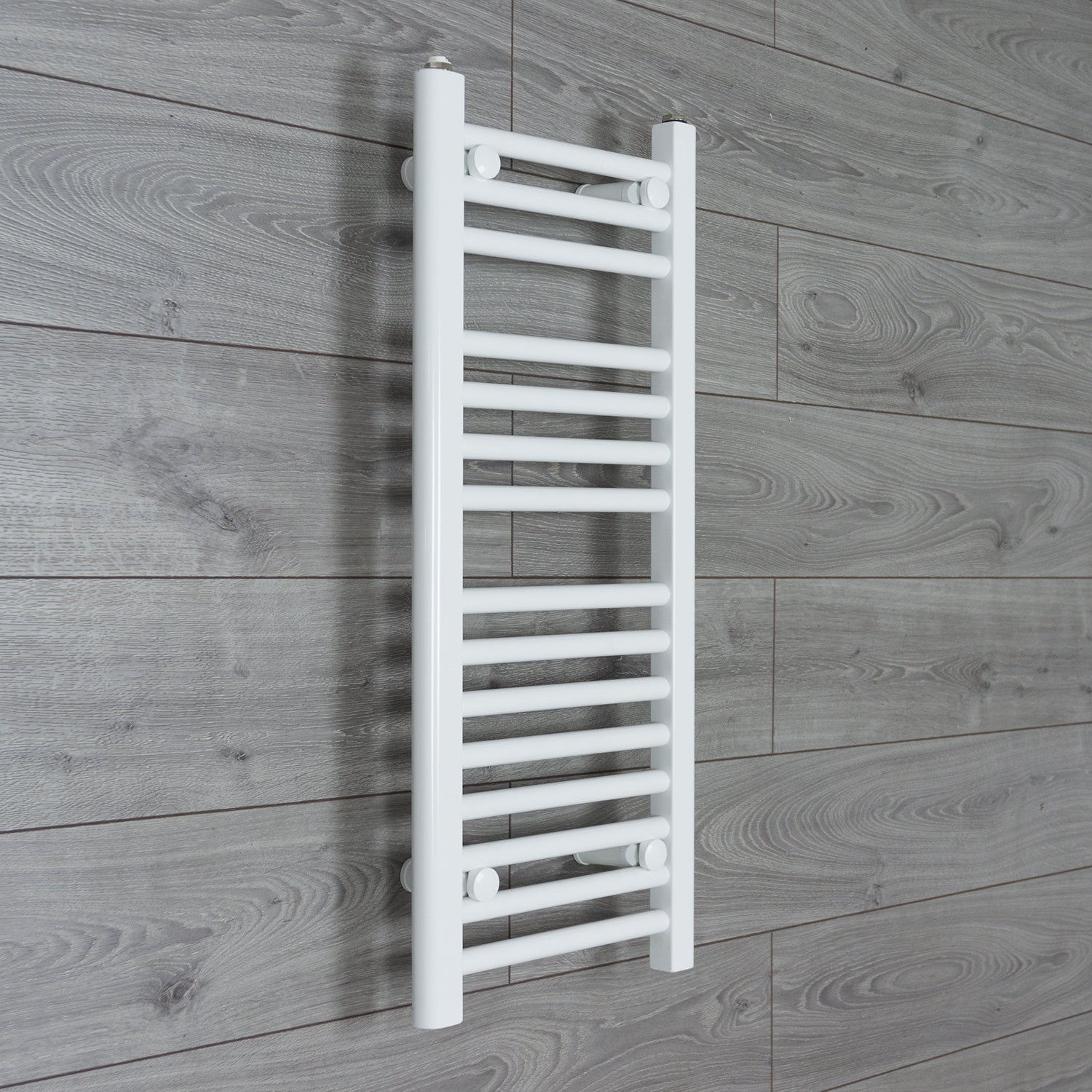 350mm Wide 800mm High Flat WHITE Pre-Filled Electric Heated Towel Rail Radiator HTR