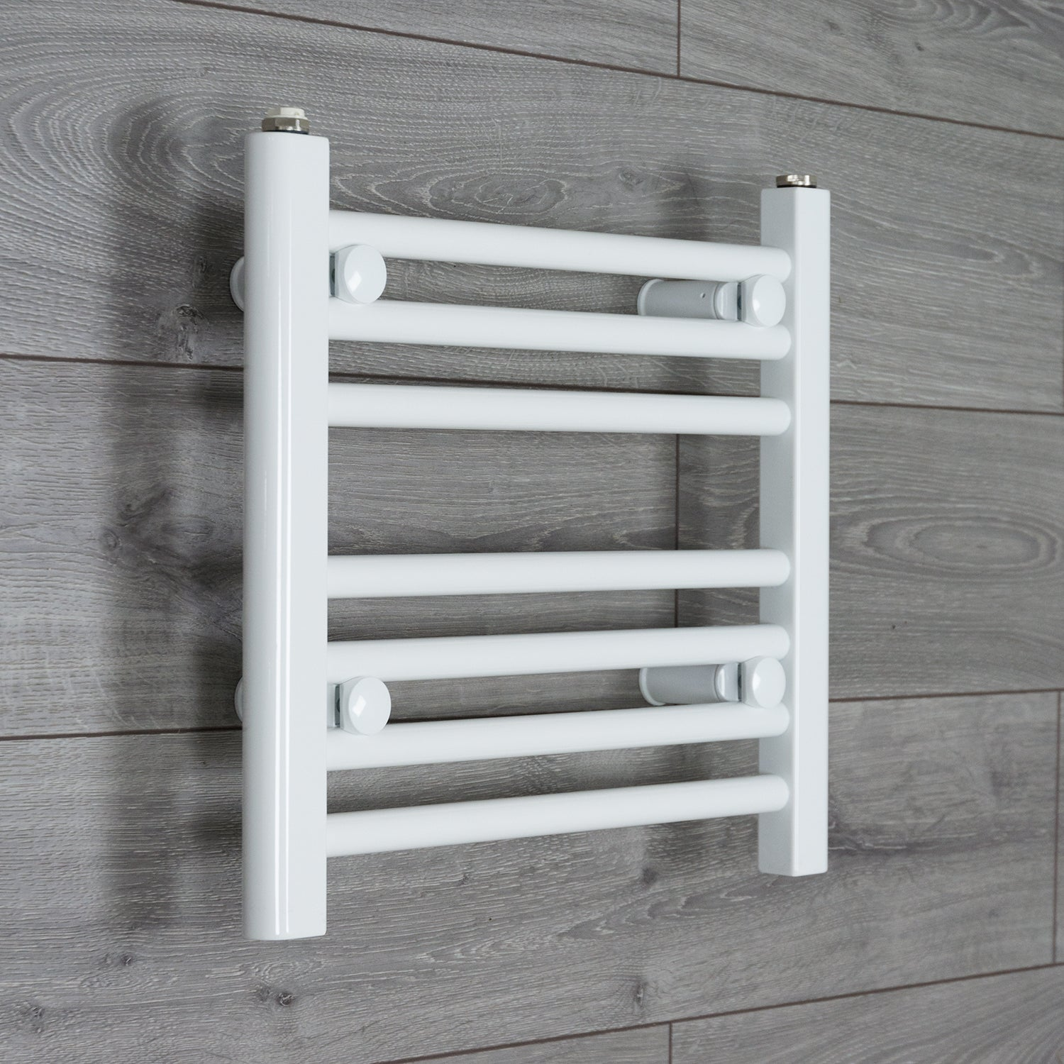 400mm Wide 400mm High Flat White Heated Towel Rail Radiator HTR,Towel Rail Only