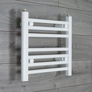 500mm Wide 400mm High Flat WHITE Pre-Filled Electric Heated Towel Rail Radiator HTR