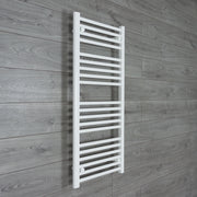 500mm Wide 1100mm High Flat White Heated Towel Rail Radiator HTR,Towel Rail Only