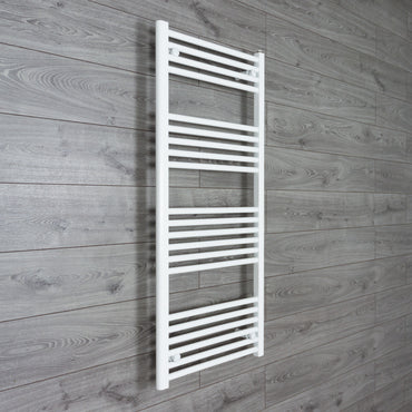 400mm Wide 1200mm High Flat White Heated Towel Rail Radiator Gas or Electric,Towel Rail Only