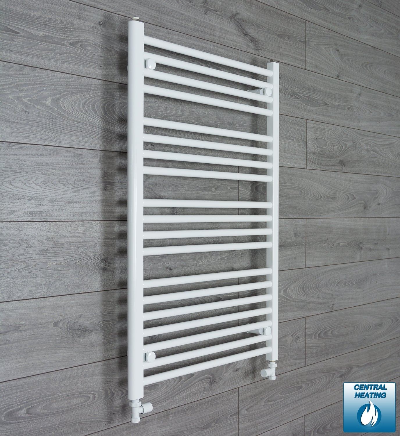 700mm Wide 1000mm High Flat White Heated Towel Rail Radiator HTR,With Straight Valve