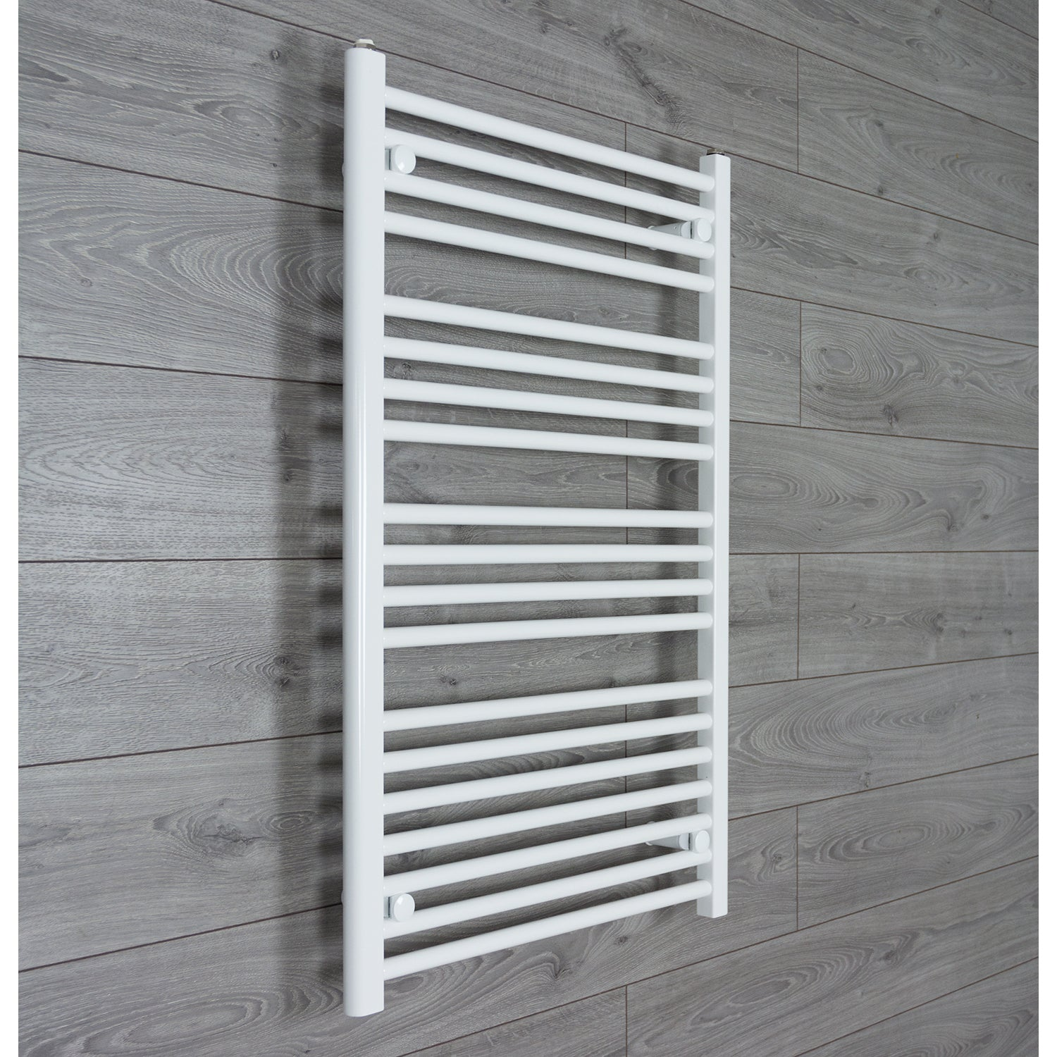 650mm Wide 1000mm High Flat WHITE Pre-Filled Electric Heated Towel Rail Radiator HTR