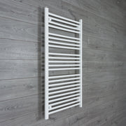 650mm Wide 1200mm High Flat White Heated Towel Rail Radiator HTR,Towel Rail Only